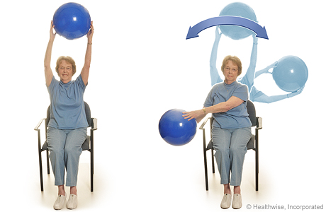 Arm circles with a ball
