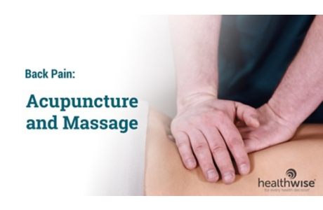 Back Pain: Acupuncture and Massage